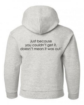 Youth Hoodie - Back - Rain Delay Gray