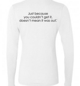 Fitted Long Sleeve - Back - White