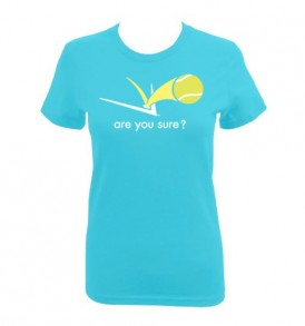 Fitted Tee - Turquoise - Yellow Logo