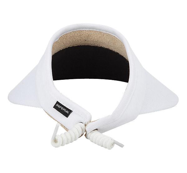 Comfort Cord Visor - White