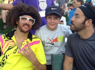 Jeremy Piven and Redfoo
