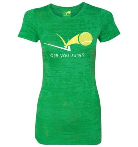 Grass Court Green Burn Out Tee - Front